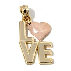 "Michael Anthony® 10K Gold 2-Tone ""LOVE"" Heart Pendant"