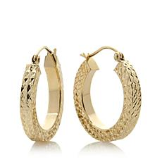 Michael Anthony® 10K Gold Diamond-Cut Square Tube Hoops
