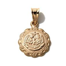Michael Anthony® 10K Holy Family Scalloped-Edge Pendant