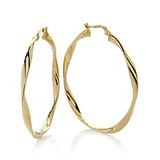 Michael Anthony® 10K Yellow Gold Twisted Tube Hoops