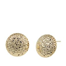 Michael Anthony Jewelry® 10K Diamond-Cut Button Earrings