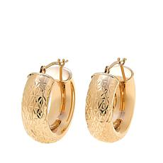 Michael Anthony Jewelry® 10K Diamond-Cut Huggie Hoop Earrings