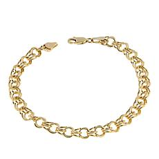 "Michael Anthony Jewelry® 10K Double Link 7-1/4"" Bracelet"