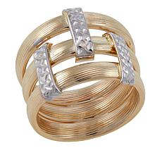 Michael Anthony Jewelry® 10K Gold 2-Tone Stack Style Ring