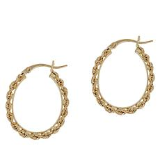 Michael Anthony Jewelry® 10K Rope Chain Oval Hoop Earrings