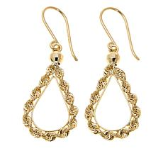 Michael Anthony Jewelry® 10K Teardrop Rope Earrings