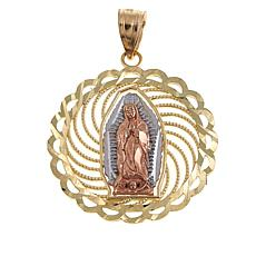 Michael Anthony Jewelry® 10K Tri-Color Virgin Mary Pendant