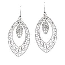 Michael Anthony Jewelry® 10K White Gold Marquise-Shape Drop Earrings