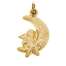 Michael Anthony Jewelry® 10K Yellow Gold Angel and Moon Pendant