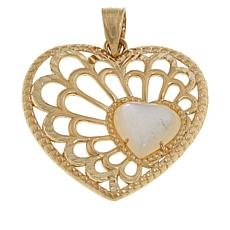 Michael Anthony Jewelry® 10K Yellow Gold Mother-of-Pearl Heart Pendant