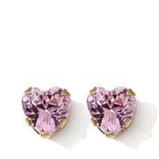 Michael Anthony Jewelry® 14K Kids CZ Heart Stud Earrings