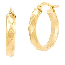Michael Anthony Jewelry® 14K Wide Twisted Ribbed Hoop Earrings