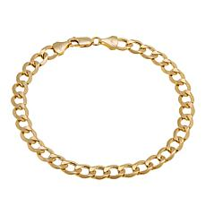 "Michael Anthony Jewelry® 14K Yellow Gold Curb Link 8-1/2"" Bracelet"