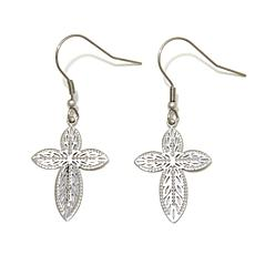 Michael Anthony Jewelry® Cross Cutout Drop Earrings