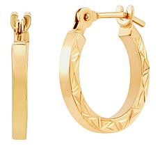Michael Anthony Jewelry® Kids' 14K Diamond-Cut Hoop Earrings