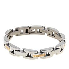 "Michael Anthony Jewelry® Men's 2-Tone Panther Link 8-1/4"" Bracelet"