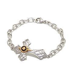 Michael Anthony Jewelry® Nativity Stone Cross Bracelet