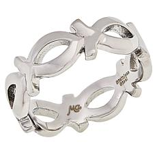 Michael Anthony Jewelry® Stainless Steel Fish Band Ring