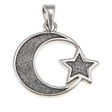 Michael Anthony Jewelry® Sterling Silver Moon and Star Pendant