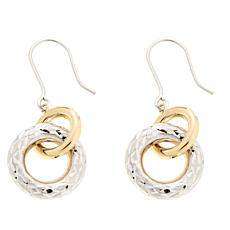 Michael Anthony Jewelry® Two-Tone Two-Hoop Drop Earrings