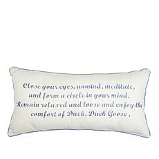 "Michelle George Duck Duck Goose Decorative 12"" x 24"" Pillow"