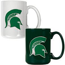 Michigan State Spartans 2pc Coffee Mug Set