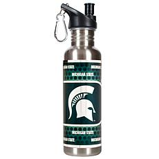 Michigan State Spartans Stainless Steel Water Bottle with Metallic ...