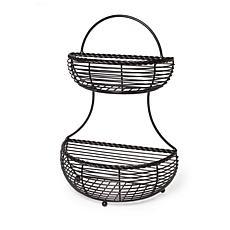 Mikasa Gourmet Basics Rope 2 Tier Countertop Basket