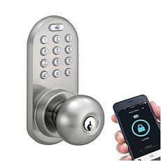 MiLocks Bluetooth Keypad Doorknob - Satin Nickel