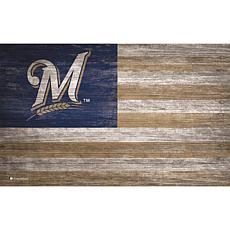 Milwaukee Brewers Distressed Flag 11x19