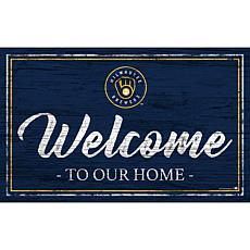"""Milwaukee Brewers Team Color Welcome Sign - 11x19"""""""