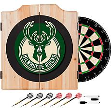 Milwaukee Bucks NBA Wood Dart Cabinet Set