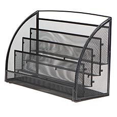 Mind Reader 4-Tier Mesh Magazine Rack