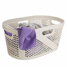 Mind Reader 40L Laundry Basket - Ivory