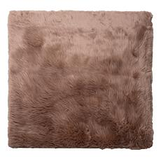 "Mind Reader Faux Sheepskin Anti-Skid Fluffy Area Rug - 47.95"" Square"