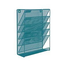 Mind Reader Mesh 6-Pocket Vertical Wall Mounted Desk Organizer