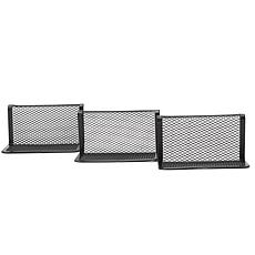 Mind Reader Metal Mesh Business Card Holder Stand for Desk 3-Pack