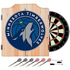 Minnesota Timberwolves NBA Wood Dart Cabinet Set