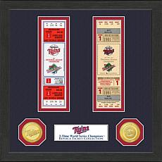 Minnesota Twins 2-Time World Series Ticket Collection