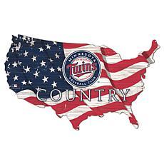 Minnesota Twins USA Shape Flag Cutout