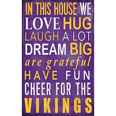 Minnesota Vikings In This House Sign