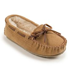 Minnetonka Child's Cassie Suede Slipper Moccasin