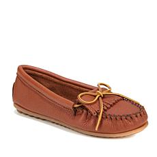 Minnetonka Deerskin Kilty Leather Moccasin