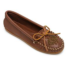 Minnetonka Deerskin Leather Beaded Moccasin