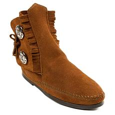 Minnetonka Men's Two-Button Hardsole Moccasin Boot