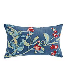 Minnie Driver Tresco Embroidered Decorative 100% Cotton Pillow