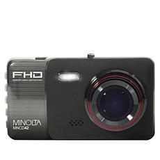 "Minolta 1080p HD Dash Cam with 4"" LCD Screen and 16GB SD Card"