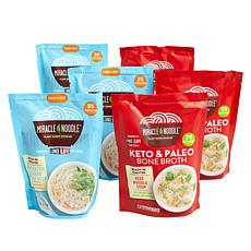 Miracle Noodle 6-pack Bone Broth with Noodles - 3 Chicken, 3 Beef