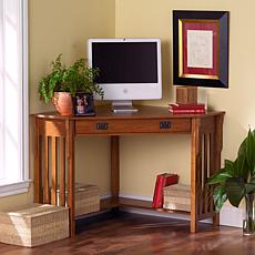 Mission Oak Corner Computer Desk