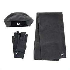 MISSION VaporActive Men's Heating Beanie, Scarf and Glove Set